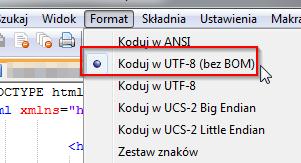 Notepad ++ UTF-8 bez BOM